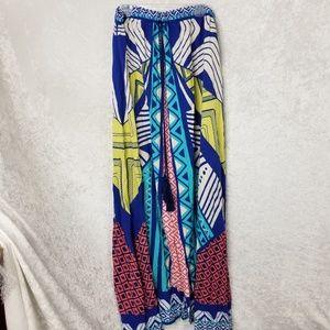 Flying Tomato Multi-colored Maxi Skirt Sz Large